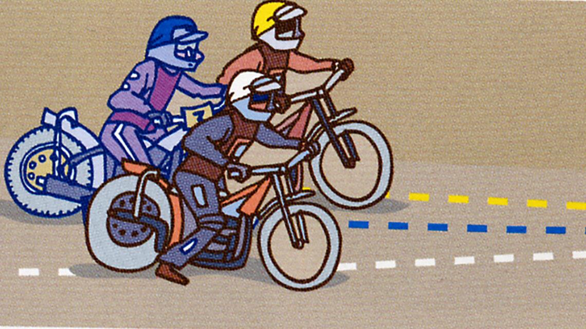 Illustration av Per Gustavsson ur boken Speedway
